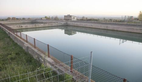 La potabilitzadora es construirà al costat dels dipòsits d'aigua (a la imatge).