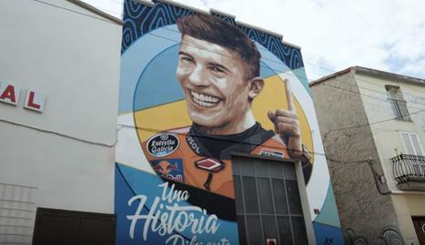 Marc Márquez, homenatjat a Penelles amb un gran mural
