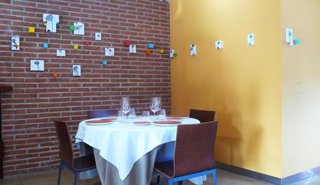 Instal·lació 'Jardí III', obres de Massana al restaurant Lo Ponts.