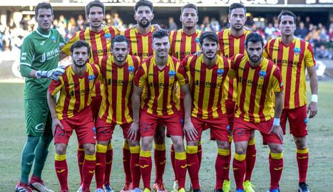 Formació inicial del Lleida, al partit de diumenge passat a Castelló.