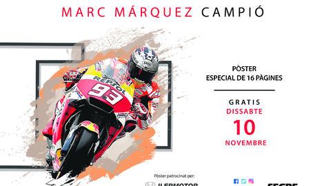 Aquest dissabte, pòster i especial de Marc Màrquez amb SEGRE!