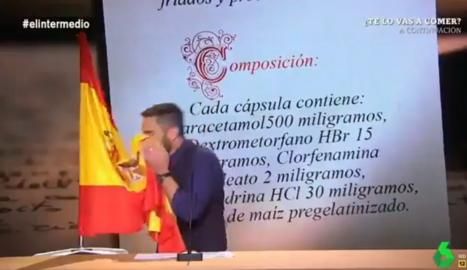 Dani Mateo i el gag a 'El Intermedio'.