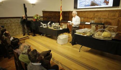 Josep Maria Gili, durant la conferència d'ahir a l'Institut d'Estudis Ilerdencs.