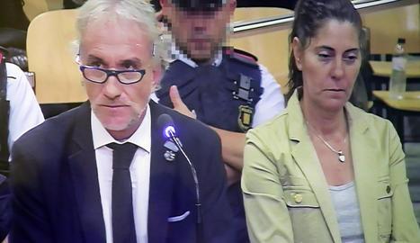 Els acusats, Fernando Blanco i Margarita Garau, durant la celebració del judici entre els dies 2 i 5 de l'octubre passat a l'Audiència Provincial de Lleida.
