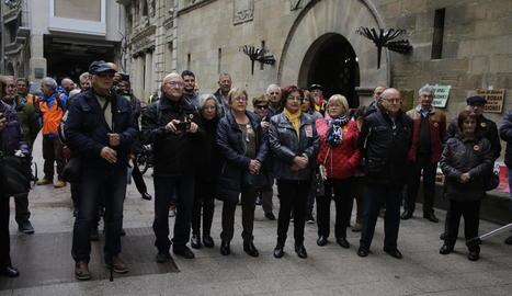 Mobilització dilluns passat a Lleida per exigir unes pensions públiques dignes.
