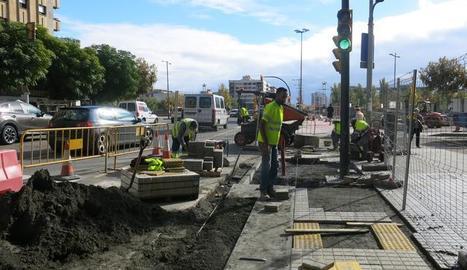 Les obres del carril bici de l'avinguda Catalunya entren al tram final.