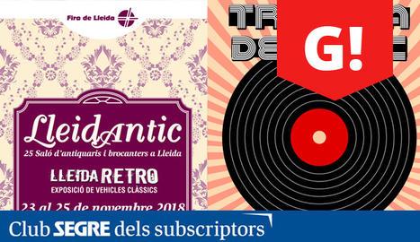 Els cartells de la nova edició de Lleidantic i la Trobada del disc.