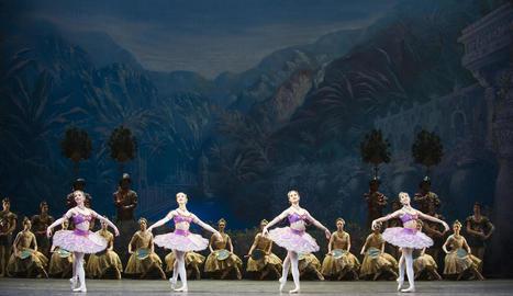 El Royal Ballet de Londres, a l'espectacle de dansa clàssica 'La Bayadère'.