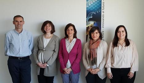 El grup d'investigació que lidera el projecte a Saragossa.