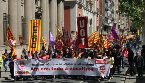 Els sindicats van exigir ocupació de qualitat el passat 1 de Maig.