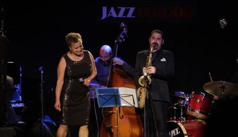 La nord-americana Michele Hendricks, una de les estrelles del Jazz Tardor, al Cafè del Teatre.