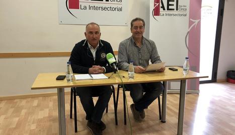 La presentació de la trobada, ahir a Fraga.