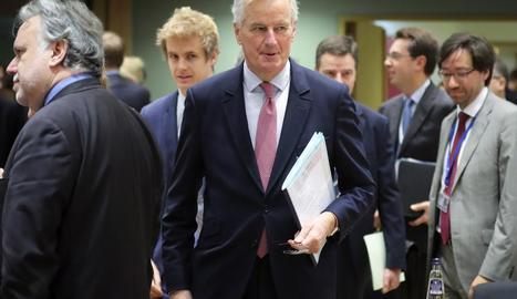 El negociador en cap de la UE per al Brexit, Michel Barnier, ahir a Brussel·les.