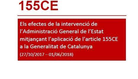 Un informe de la Generalitat afirma que el 155 va tenir un impacte negatiu de 1.800 milions