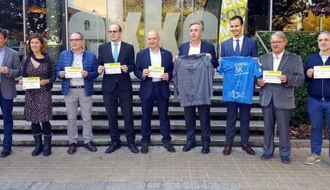 L'acte de presentació de la Mitja Marató de Lleida.