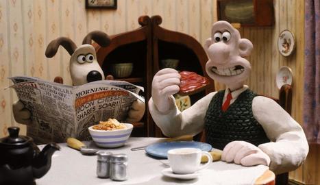 Fotogrames de 'Wallace & Gromit' de Peter Lord i de 'Gymnasia' del duo canadenc Chris Lavis i Maciek Szczerbowski.