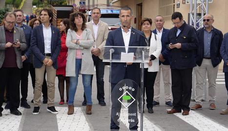 L'alcalde d'Alcarràs, Miquel Serra.