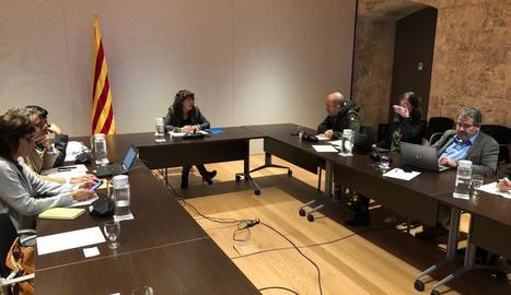 La reunió de la Comissió Interdepartamental contra la pesta porcina