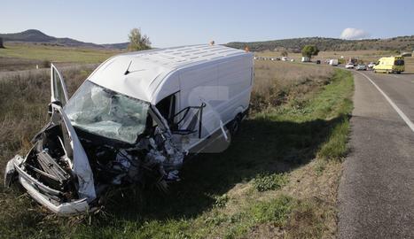 La furgoneta implicada en l'accident