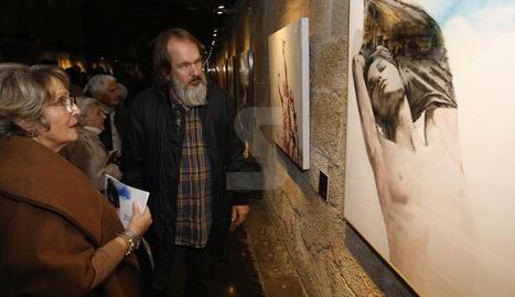 L'obra guanyadora, 'Canvi de model', a l'exposició oberta a l'IEI fins al proper 9 de desembre.