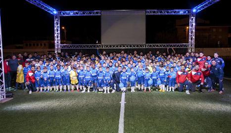 L'Escola de Futbol Baix Segrià presenta tots els seus equips, integrats per 230 jugadors i jugadores