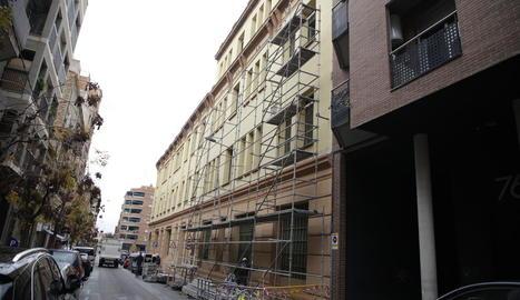Reparació a l'Escola del Treball