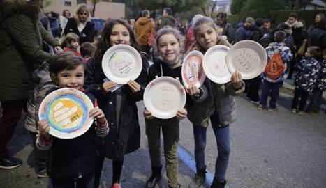 Los niños han participado activamente en la protesta.