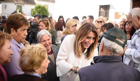 La presidenta andalusa, Susana Díaz, ahir en un acte de campanya.