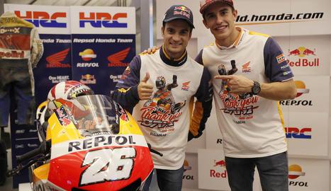 Marc Màrquez s'acomiada aquest cap de setmana del seu company Dani Pedrosa.