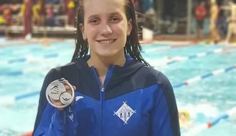 Paula Juste, amb la segona medalla en dos dies, ara de plata.