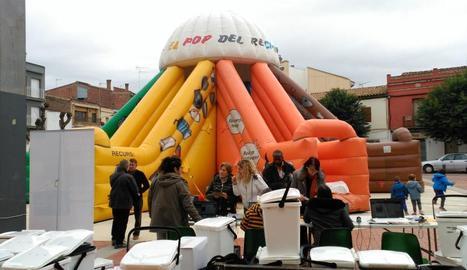 La Festa del Reciclatge que es va celebrar ahir a Alfarràs.
