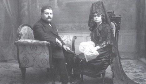 El metge lleidatà Marià Mullerat, al costat de la seua dona Dolors Sans.