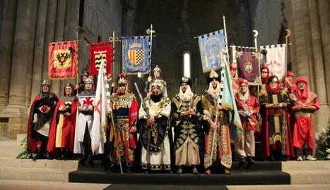Relleu de càrrecs de Moros i Cristians de Lleida en el Mig Any Fester