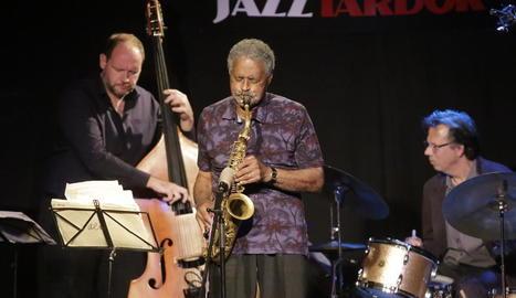 El saxofonista Charles McPherson va actuar ahir al Jazz Tardor de Lleida al capdavant d'un quartet.