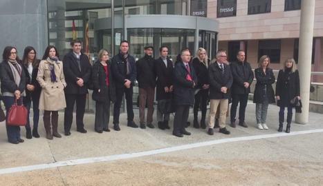 La concentració de jutges i fiscals al Canyeret.