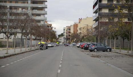 Vista general de l'avinguda de Fontanet, a la Bordeta.