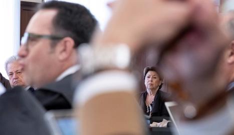 L'exministra de Foment Magdalena Álvarez, ahir, a Sevilla.