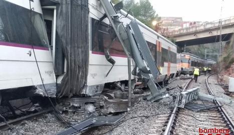 IMÁGENES. Descarrila un tren de cercanías en Vacarisses
