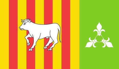 La nova bandera de Les Borges Blanques.