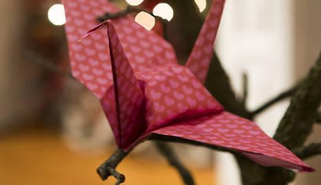 Escoles lleidatanes participen en el projecte solidari '1 Origami 1 Euro'