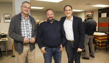 Enric Colom, Silveri Caro i José Crespín, ahir a Tàrrega.