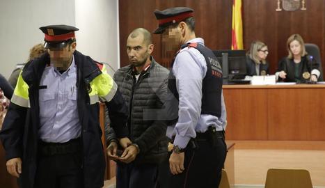 Josep Sopena, ahir després de conèixer el veredicte del jurat popular a l'Audiència de Lleida.