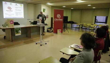 El gerent de Troballes, Josep Fernández, durant la presentació.