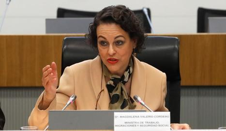 La ministra de Treball, Magdalena Valerio.