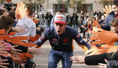 Marc va assistir ahir a un acte contra el 'bullying' a Saragossa.
