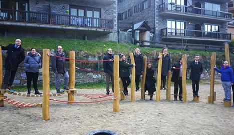 Imatge d'un dels espais de joc que s'han instal·lat a l'Escòla Garona.