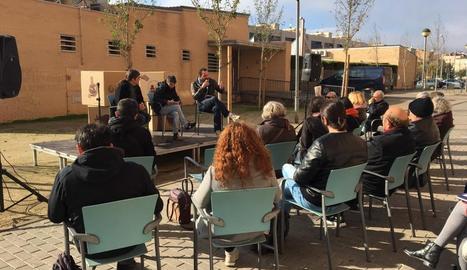 L'acte que ahir va organitzar En Comú Podem a Lleida.