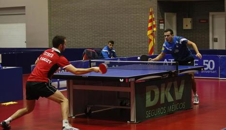 Marc Duran va perdre ahir el partit que va disputar de l'eliminatòria de tornada davant de Paul Gauzy.