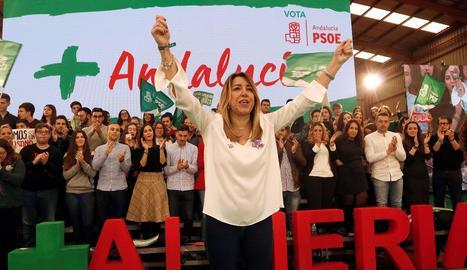 La candidata socialista a la reelecció, Susana Díaz.