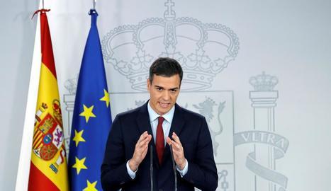 Sánchez va anunciar en conferència de premsa haver arribat a un acord sobre Gibraltar.